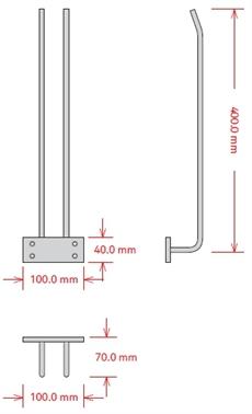 Glashängare, 40 cm, Koppar, Tak