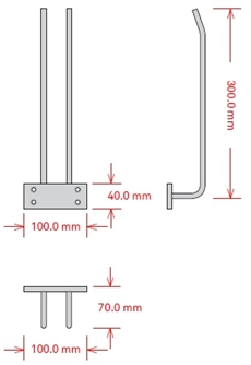 Glashängare, 30 cm, Koppar, Tak