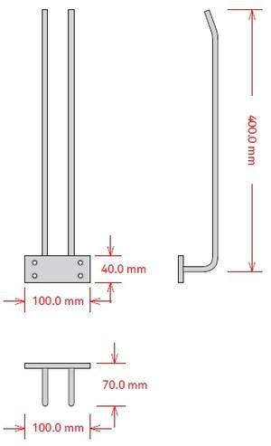 Glashängare, 40 cm, Svart, Tak