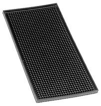 Barmatta, svart gummi, 15x30 cm