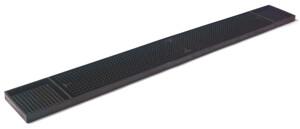 Barmatta, svart gummi, 60x8 cm